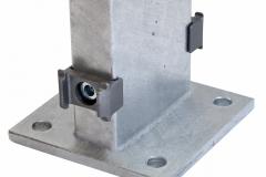 Poteau type DO pour clôture gabion ép. 12,5 ou 9 cm avec platine